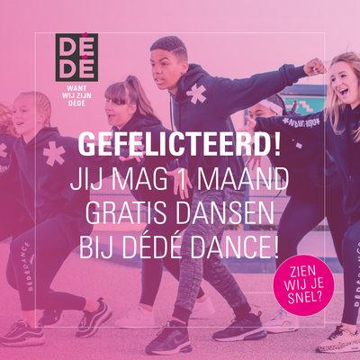 Cadeaubon: 1 maand dansen bij DéDé