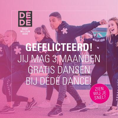 Cadeaubon: 3 maanden dansen bij DéDé